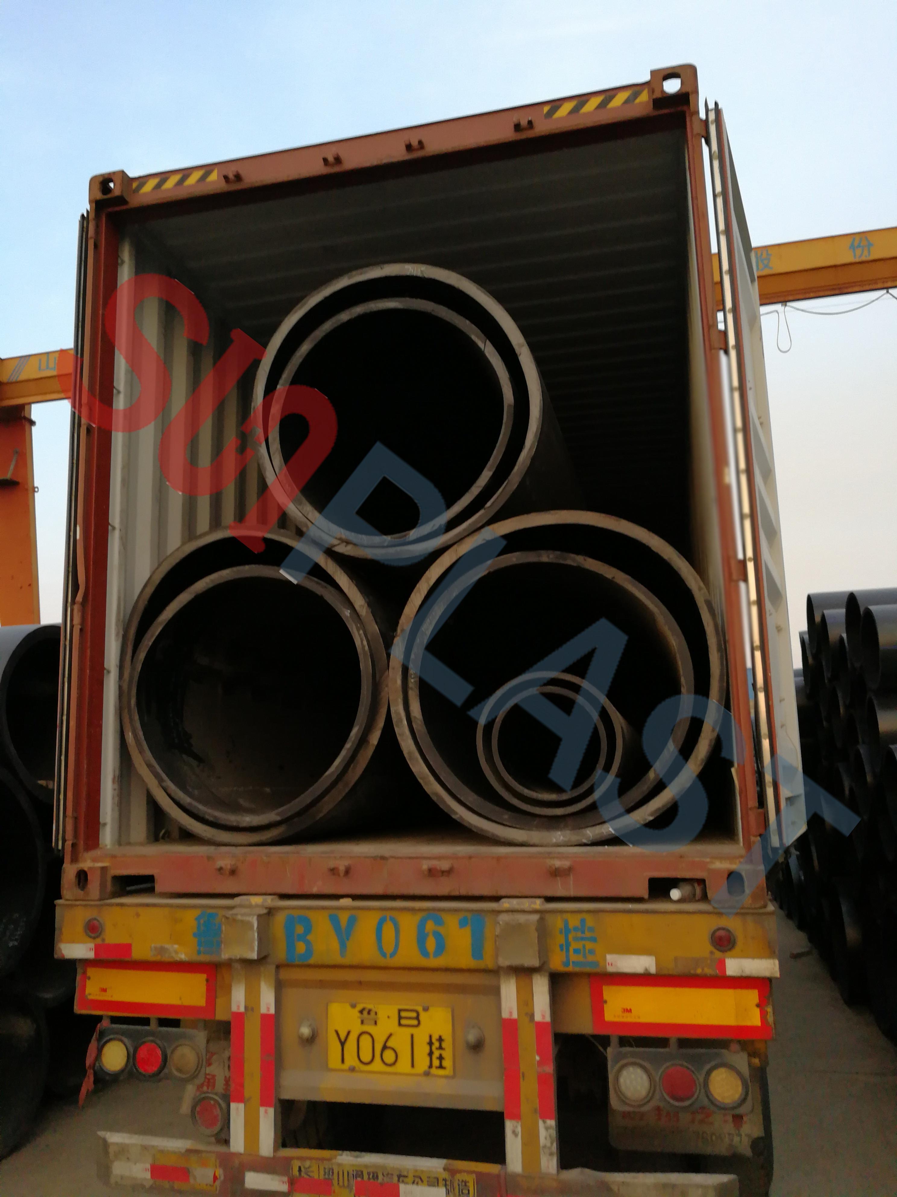 Tubo de PEAD SUNPLAST DN1000 / DN1200mm para a Austrália